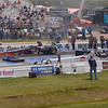 Randy Eakins and Courtney Force, Eakins ended up winning the race. Courtney didn't qualify!