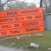 Sign outside the track