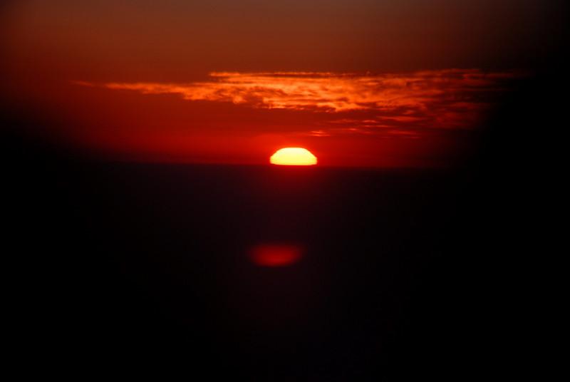 Sunrise at 35,000 ft!