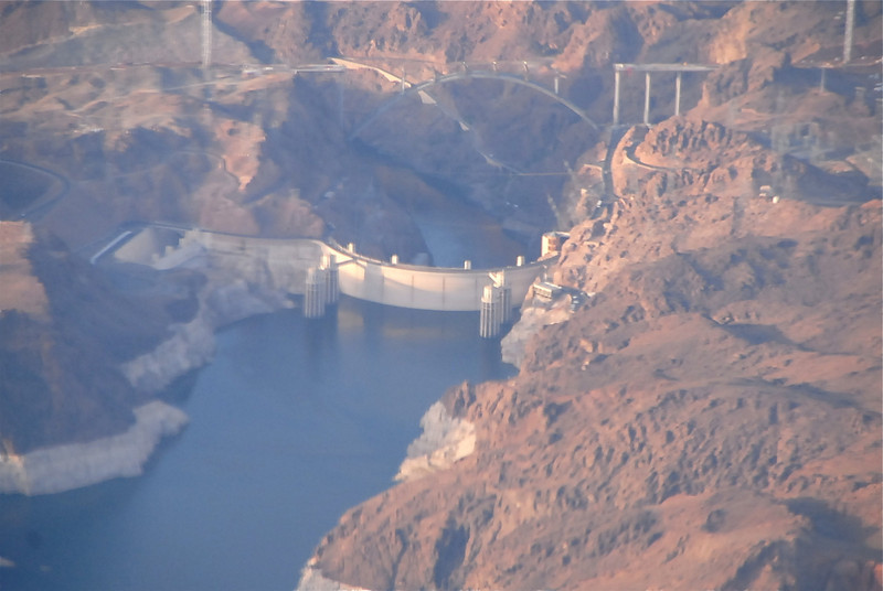 Flying over Hoover Dam!!!