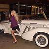 Amy Posing with a '36 Auburn