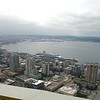 View of Puget Sound from the Space Needle, that water is over 600' deep