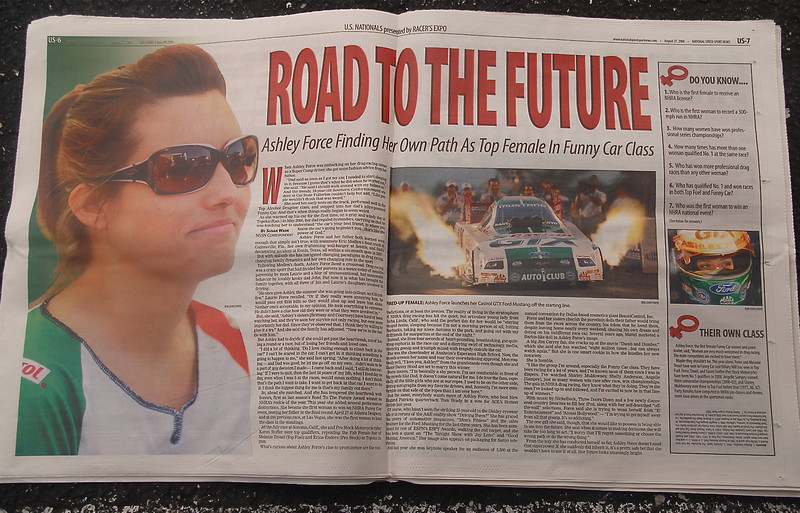 Great article on Ashley Force in the New Speedsport!