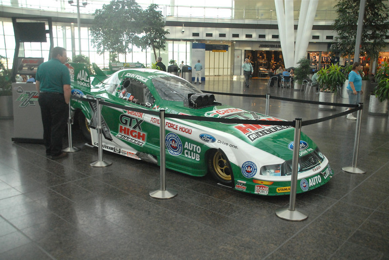 Can you believe they had a John Force FC in the Airport?