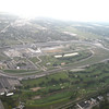 Flying over the Indianapolis Motor Speedway