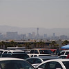 The Las Vegas Skyline from the track