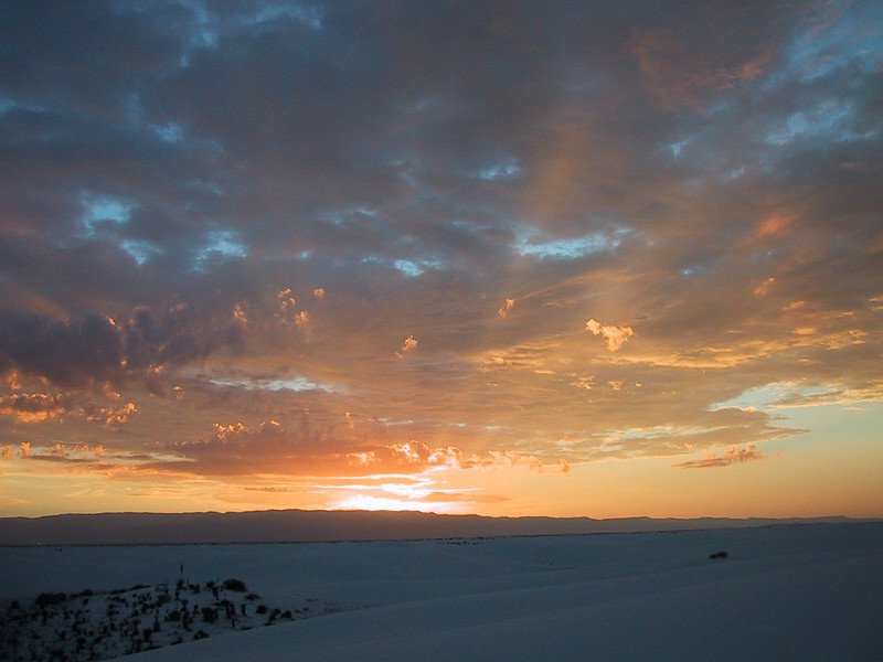 Sunrise at White Sands