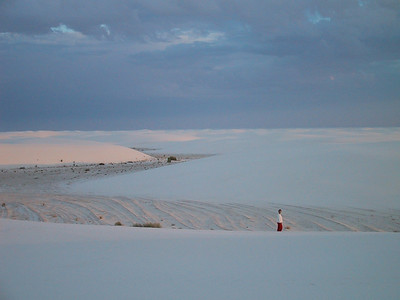Beck at White Sands
