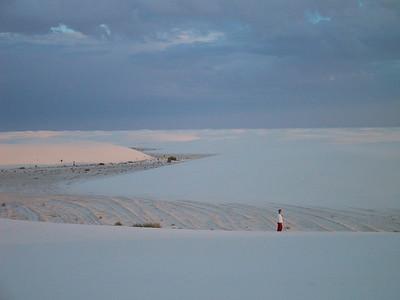 Beck at White Sands