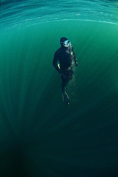 The freediver - 5:a i vidvinkel med dykare i nordiska vatten.