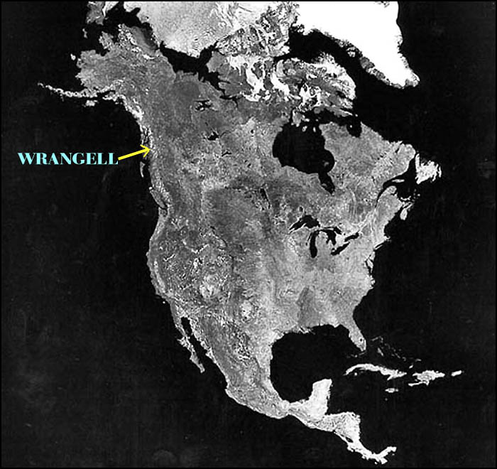 """WHERE THE HECK IS WRANGELL, ALASKA?"",photo by a satellite.-----""SAKRA KDE JE WRANGELL, ALJASKA?"",foceno druzici."
