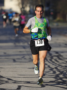 Scott Zubricky of North Ridgeville, placed 5th over-all and won the male 50 to 54 age group with a time of 19:10.7. photo by Ray Riedel