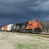 CN Q194 under a thunderstorm sky at Flora, MS.  1/7/2012.  Photo by John Fortner