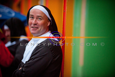 Nunday 30th June 2012. where  the Guinness Book of Records had a new record broken when 1436 people dressed as Nuns gathered in Listowel Emmetts football pitch to raise funds for Pieata House. Photo Brendan Landy  Copyright Image..All rights reserved...Please do not copy, print or download image , any breaches will result in all images been removed, depriving others the right to see images.  All images can be seen  and ordered from http://landyphoto.smugmug.com/Other/NUNDAY-PHOTOGRAPHS  All profits going to NUNDAY /Pieata House