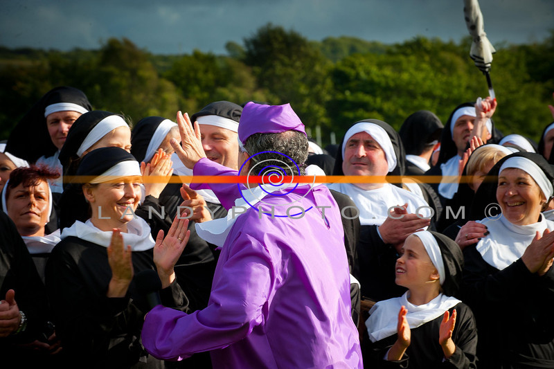 """Nunday 30th June 2012. where  the Guinness Book of Records had a new record broken when 1436 people dressed as Nuns gathered in Listowel Emmetts football pitch to raise funds for Pieata House.<br /> Photo Brendan Landy<br /> <br /> Copyright Image..All rights reserved...Please do not copy, print or download image , any breaches will result in all images been removed, depriving others the right to see images.<br /> <br /> All images can be seen  and ordered from <a href=""""http://landyphoto.smugmug.com/Other/NUNDAY-PHOTOGRAPHS"""">http://landyphoto.smugmug.com/Other/NUNDAY-PHOTOGRAPHS</a><br /> <br /> All profits going to NUNDAY /Pieata House"""