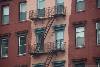 a typical apartment building in NYC.