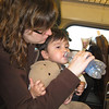 Hydrating on the train to NYC
