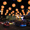 Singapore Singapore - 20/02/2015.  All Rights Reserved. No unpaid usage without prior written consent.  Grand tour of New Zealand, Singapore and Sydney. Singapore at night. Food Street on second night of the Chinese new year.