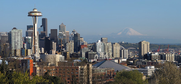 Panorama of Seattle from Kerry Park viewpoint (Queen Anne).