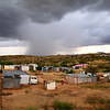 Gathering storm over Otjumusie, Namibia.