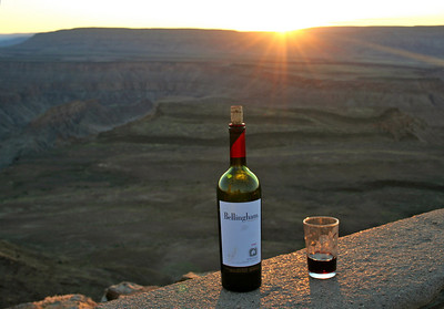 """sundowner"" at fish river canyon"
