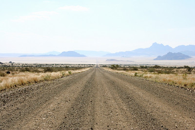 the road in namibia