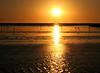 "flamingos at sunset in walvis bay.  google earth: 22º59'52.16""S  14º28'04.81""E"