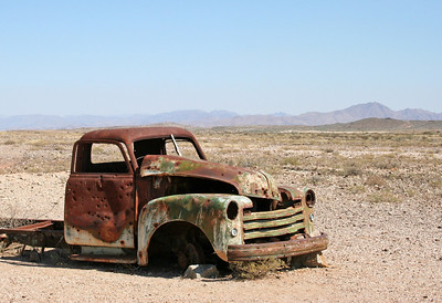 abandoned truck near fish river canyon