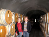Audra and Matt enjoying the cellar at Schug.  Was someone drunk taking this picture?