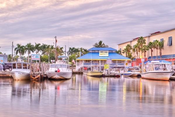 Boat dock across from Tin City