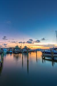 Naples Dock Sunrise Vert.