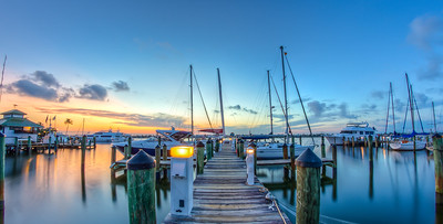 City Dock Sunrise Look Down Dock Pano 2014