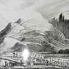 Copy of lithograph of Napoleon's army climbing the pass