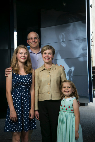 Minneapolis, MN - The Nasby Family in front of the Guthrie Theater. Photo by © Todd Buchanan 2012 Technical Questions: todd@toddbuchanan.com;