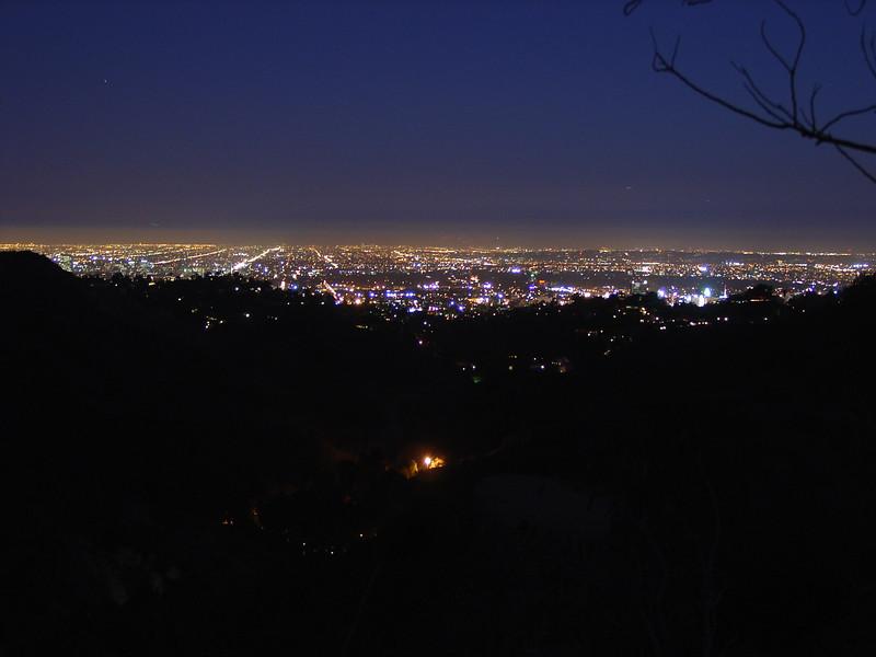 Hollywood Hills overlooking LA