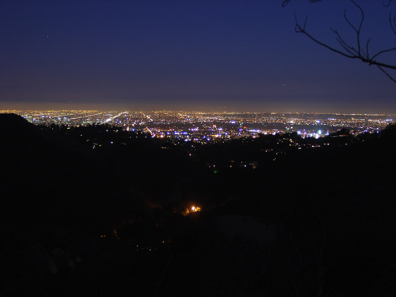 Hollywood Hills overlooking LA