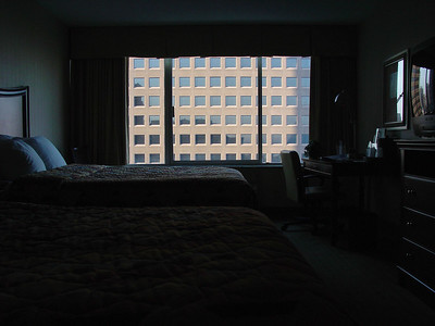 My hotel room in downtown Memphis