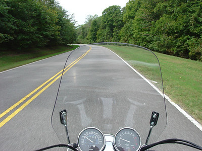 While riding the Natchez Trace Parkway