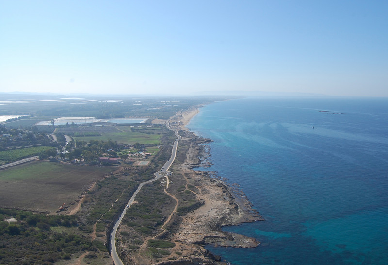 looking south on the Mediterranean Sea - northern Israel