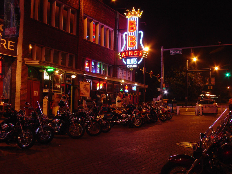 Bikes on Beale Street, Memphis, August 2006