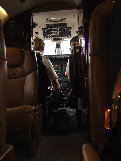 In a private airplane the pilots can still keep the door open to the cockpit.