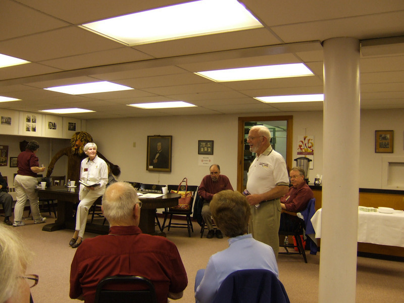 June, Stoney, Pete, listening to Dr. Daley; May 2008