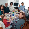 Christmas Dinner. Ale, Pier (her brother), Gio, Mirko (a cousin), Davide, Terry, Iaia.