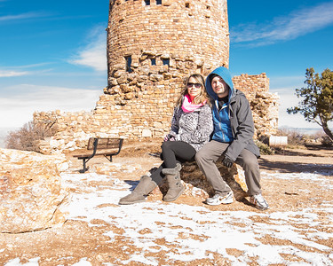 My Wife and I visit the Grand Canyon's Desert View Watchtower in December 2015.