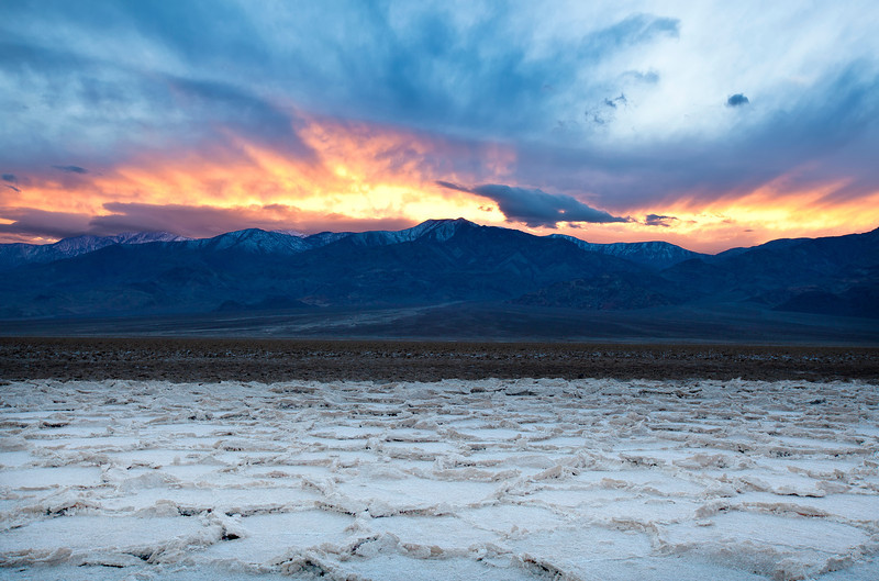 Sunset on the Devils Golf Course in Death Valley National Park