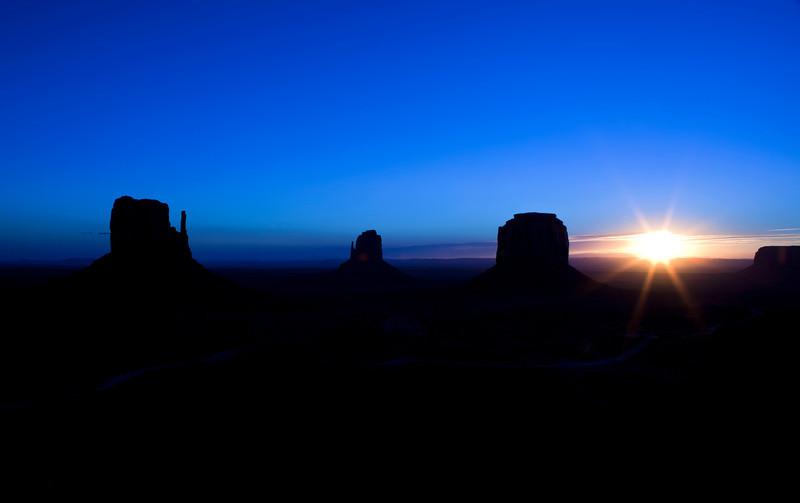 Sunrise in Monument Valley Arizona