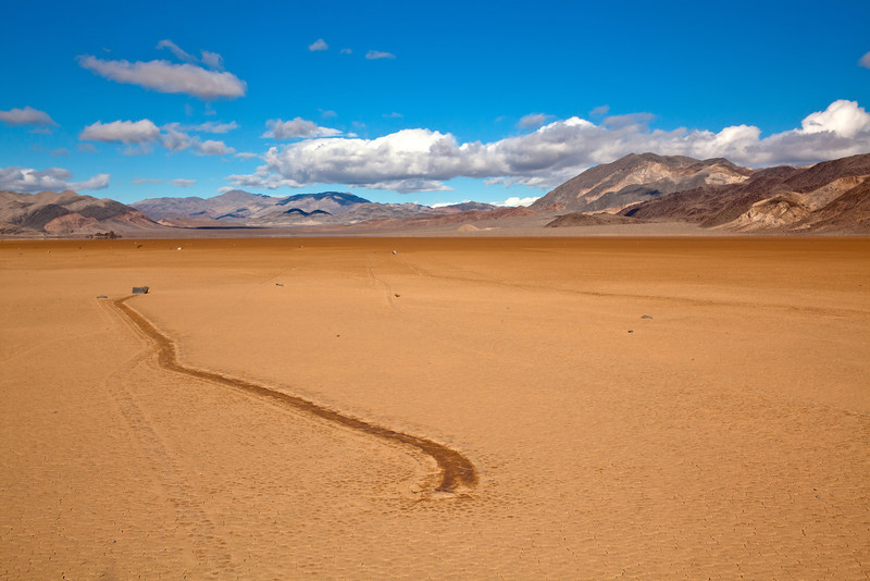 Moving Rocks on the Racetrack in Death Valley National Park