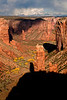Spider Rock in Canyon De Chilly, Arizona at sunset
