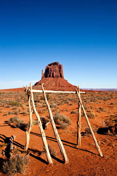 Lean to near the base of East Mitten Butte in Monument Valley Arizona