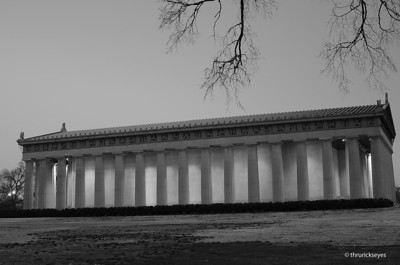 I decided to convert this photo of the Parthenon in Nashville, TN to black & white since the morning was overcast and the light was a little challenging.